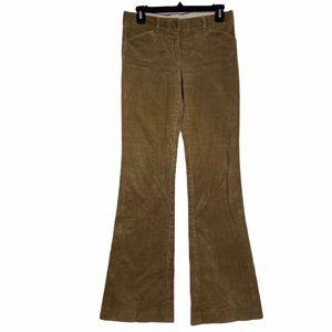 Theory tan corduroy wide leg flare pants. Size 2